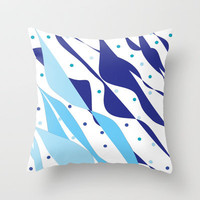 Wind & Sails Throw Pillow by Rosie Brown