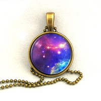 10% SALE Necklace Moon Galaxy Jewelry, Space Universe, Pendant Necklaces,Constellation,Gift For Her