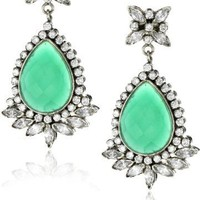 "Rosena Sammi ""Passage to India"" Sovereign Emerald and Crystal Earrings"