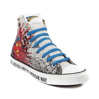 Converse All Star Hi Man of Steel Athletic Shoe, Gray Red Blue | Journeys Shoes