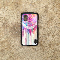 Nexus 4 case - Best Nexus 4 Cover cases for lg - Cute Colorful Dreamcatcher Unique Design - Cool Protective Bumper Tpu Phone Covers