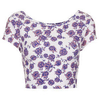 Floral Bardot Crop - View All - New In This Week  - New In