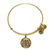Alex and Ani Boston University™ Logo Charm Bangle - Russian Gold