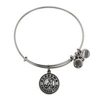 Alex and Ani University Of Alabama® Logo Charm Bangle - Russian Silver