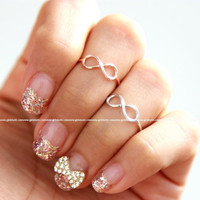 girlsluv.it - simple INFINITY knuckle ring, 3 colors