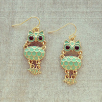 Pree Brulee - Wise Owls Earrings