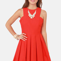 BB Dakota Anisa Pleated Red Dress