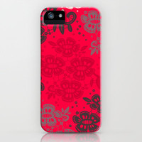 Floral Pattern #14 iPhone & iPod Case by Ornaart