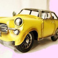 Yellow Retro Car by DaysGoneBy on Zibbet