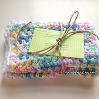 Set of 2 #Handmade #Crochet Wash Cloths #Baby Bath Wash Cloths Pure Cotton by MoomettesCrochet