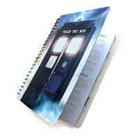 Dr Who Tardis Planner 2013 2014 Daily Monthly Doctor UpCycled by PopCulturePlanners on Zibbet