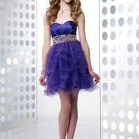 Empire Sweetheart Crysatal Organza Prom Dress PD0092
