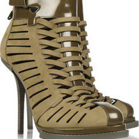 Alexander Wang Andi suede and glossed-leather ankle boots – 56% at THE OUTNET.COM