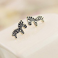 zebra earrings