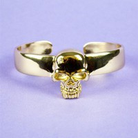 Gold Skull Bracelet - Fashion Jewelry - $36