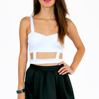 Caged Sweetheart Crop Top $25