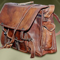 Handmade Pure Leather Laptop Macbook Bags Satchel Messenger handbag | GenuineProducts - Bags & Purses on ArtFire