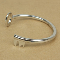 Open End Round Up Key Fashion Bangle | LilyFair Jewelry