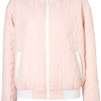 Heart Quilted Bomber Jacket - Jackets & Coats - Apparel - Topshop USA