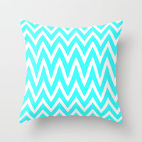 Mint zig Zag Throw Pillow by  Alexia Miles photography