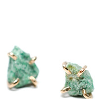 Fuchsite Claw Stud Earrings | LEIF
