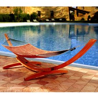 Wood Hammock Stand in Classic Arc Design