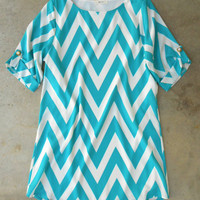 The Everly Teal Chevron Dress [4069] - $52.00 : Vintage Inspired Clothing & Affordable Summer Frocks, deloom | Modern. Vintage. Crafted.