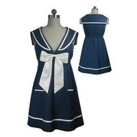 Navy Sailor Bow Tie Mini Dress - Harajuku Dress 8/S