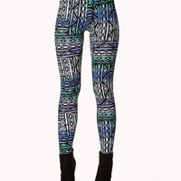 Multicolored Tribal Print Leggings | FOREVER21 - 2075059176