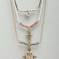 Layered Charm Necklaces - Necklaces - Jewelry - Accessories