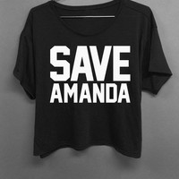Save Amanda - Boxy Top Black