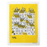 Town Print Tea Towel By Lisa Jones | Folly Home | Design-led Gifts, Home wares, Vintage Finds
