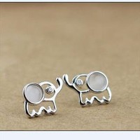 Sterling Silver Elephant Earrings from tulitajean
