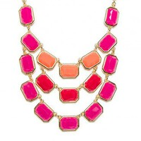 Clare Necklace in Fuchsia - ShopSosie.com