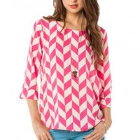 Viceory Blouse in Fuchsia - ShopSosie.com