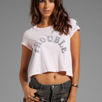 Rebel Yell Trouble Crop Tee in Vintage Pink from REVOLVEclothing.com