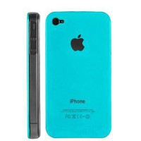 Light Blue Replicase Hard Crystal Air Jacket Case for AT&T iPhone 4 4G 1