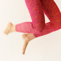 Fuchsia pink with dots Leggings - Limited item