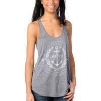 Obey Girls Cruise Liner Navy Mock Twist Tank at Zumiez