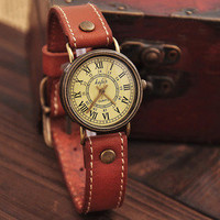LOVELY Ms retro watch old Roman dial watch