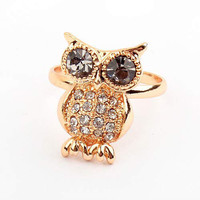 Big Eyes Owl Open Ring