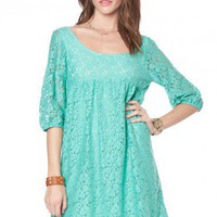 Lacey Babydoll Dress in Jade - ShopSosie.com