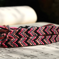 chevron friendship bracelets Best Friends by WoodlandTrinkets