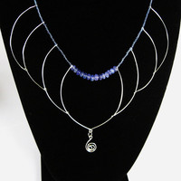 Tanzanite Beadwork Necklace OOAK