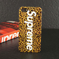 Supreme iPhone 5 Leopard Case