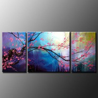 Modern Flower Huge Canvas Oil Painting197 | donspricly - Painting on ArtFire