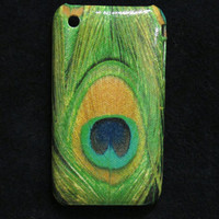 Peacock feather iphone 3gs Case / iPhone 3G iphone 3 by piimism