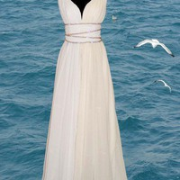 Grecian Style Wedding Dress - Custom made | atelierTAMI - Wedding on ArtFire