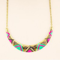 Colorful Geometry Fashion Necklace | LilyFair Jewelry