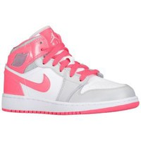 Jordan AJ1 Mid - Girls' Grade School at Foot Locker